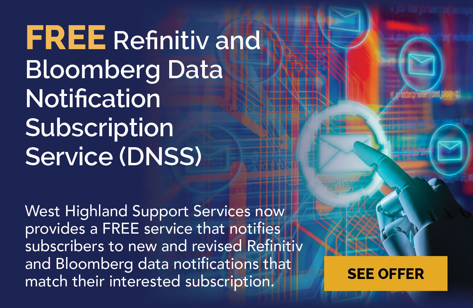 FREE Refinitiv and Bloomberg Data Notification Subscription Service (DNSS)